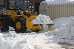 ホイールローダー除雪